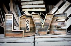 Original Reclaimed Wood Marquee Letters LOVE 16 inch por sonofwhale