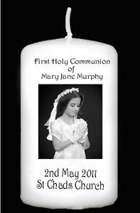First+Holy+Communion+Gifts | First Holy Communion Photo Candle Beautiful Personalised Gift FOR ...