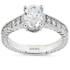 2.25 Ct. Antique Style Oval Diamond Engagement Ring