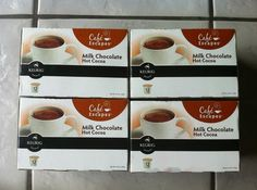 44 NEW Cafe Escapes Milk Chocolate Hot Cocoa K Cups