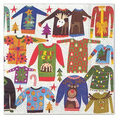 IHR Ugly Christmas Sweater Paper Luncheon Napkins
