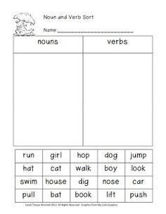 Parts of Speech, Balanced Equations Freebies