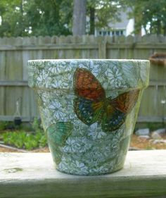 These decoupage clay pots use seed packets to decorate them, cute! Description from pinterest.com. I searched for this on bing.com/images