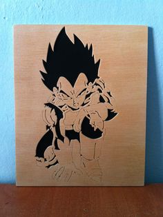 Dragon Ball Z Vegeta wooden picture wall art scroll saw on Etsy, $23.62