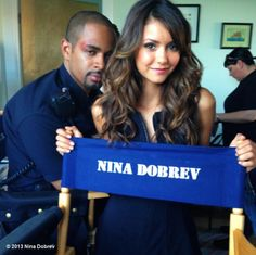 """Just finished first day of filming her new movie """"Let's Be Cops""""..... So excited to see her in a comedy & she looks AMAZING! Nina Dobrev from The Vampire Diaries <3"""