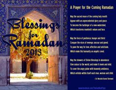 Blessings  for Ramadan  2013