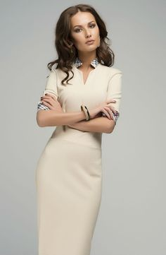 Elegant Pencil Dress.Work Fitted Plaid Dress.Knee von FashionDress8