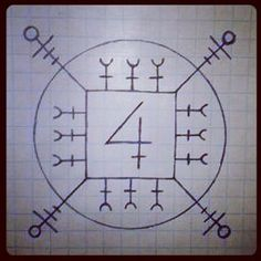 Galdrastafir for luck. Also increases energy and promotes the execution of a plan. Can be worn or positioned in a room.