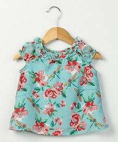 Look what I found on #zulily! Turquoise Dragonfly Top - Girls #zulilyfinds