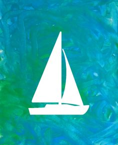 Finger-painting and art projects for kids and toddlers.  A great rainy day activity for kids.  Sailboat Finger Painting Kit Wall Art Toddler by SillySilhouettes