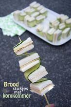 Broodstokjes met komkommer.  Gevonden op brendakookt nl
