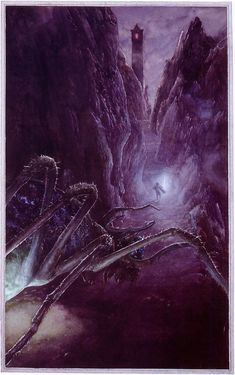 The Lord of the Rings - Alan Lee Art - Shelob