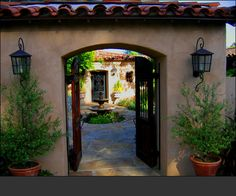 Jeff Doubet - Residential Concept Design . Spanish Colonial Revival entry