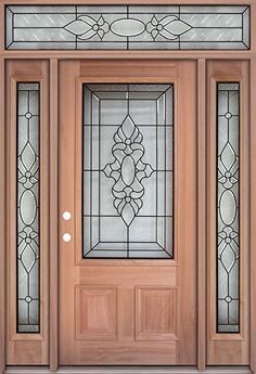 3 4 Lite Mahogany Pr January 01 2019 At 05 00pm Door Glass Design Wood Doors Door Design