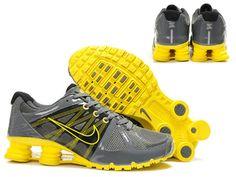 wholesale dealer 5c770 83bd3 Nike Shox Agent Mens Grey Yellow Mens Nike Shox, Nike Shox Shoes, Nike Shoes