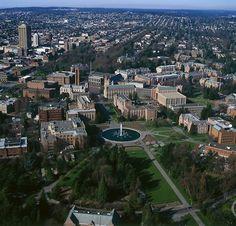 Drumheller Fountain aerial view