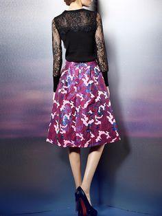 Fashion Printed Midi dress