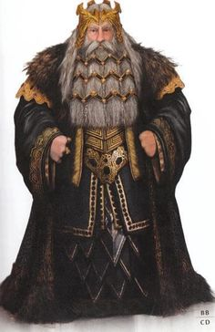 Thrór......I LOVE the way they designed him, absolutely perfect for the Dwarf King. :)