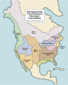 Map of North America's Place-based Food Traditions jwpowell