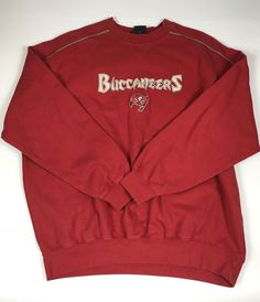 Tampa Bay Buccaneers NFL Vintage Pullover Red Sweater Sihrt 2XL  NFL   TampaBayBuccaneers 01bd0a5f7