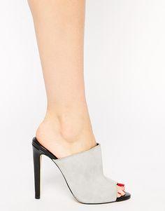 Grey Mule Sandals
