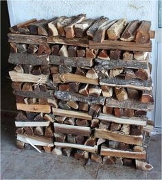 Temperate Climate Permaculture: The Art of Stacking Firewood.... I wish my woodpile looked like this!