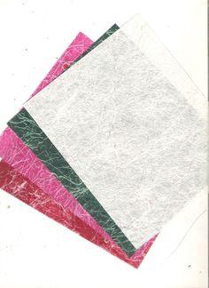 Deep silken handmade paper