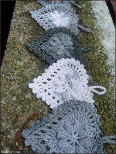 Made by Deni: SRDÍČKO MÁNIE Crochet Earrings, Crochet Hats, Cup Holders, Knitting Hats