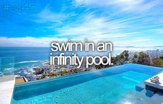 Will be in an infinity pool in San Tropez just like this one... paradise!