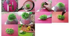 How to make shrubs/bushes from fondant!
