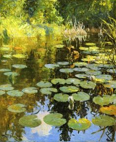 frank weston benson, lily pond (I painted a version of his work for the play, Exact Centre of the Universe)