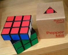 The Rubik's Pepper Mill - it's nothing to sneeze at!  Posted on the Chicago Toy and Game Fair's Facebook page by: Debbie Labinger.  Check out other fun toy and game mashups at: www.toymashup.com