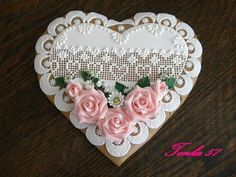 Beautiful Heart Shaped Cookie