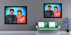 """She made his day by presenting him a unique gift """"A Painting Portrait"""" on his birthday ❤️❤️❤️ Done by our professional Artists👆 Photo to art Starting at just 450/- For orders visit www.doozypics.com For Quicker response reach us @ whats app: 7799779935 Photo To Art, Photo Restoration, Photo Retouching, Online Gifts, Online Art, Pop Art, Unique Gifts, Photo Gifts, Canvas Art"""
