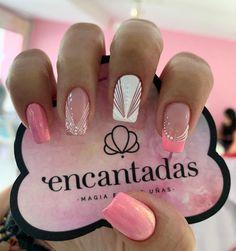 Get Nails, Love Nails, Pretty Nails, Manicure Nail Designs, Nail Manicure, Pink Nail Art, Pink Nails, Queen Nails, Vintage Nails