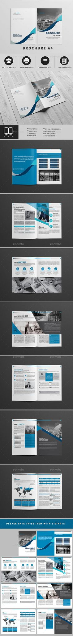 Modern \ Professional Brochure 18 Pages Template InDesign INDD - professional report template
