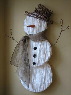 yarn snowman in a day