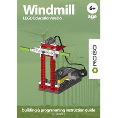 Windmill LEGO WeDo e-book.  Award winning RoboCAMP LEGO WeDo building & programming instruction guide.