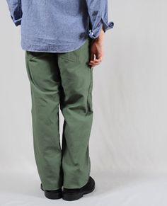 EG Workaday EG ワーカデイ Model Fatigue Pant - Reversed Sateen ファティーグパンツ - リバースドサテン Price 14,700 YEN