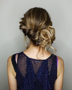 swept back bridal hairstyle,wedding hairstyles,swept back wedding hairstyles,bridal hairstyle inspiration,Loose and romantic rope braid updo,Loose rope braid updo,wedding updo,updo hairstyles,loose braids,prom hairstyles
