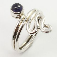 Unique Fashion Ring Size US 7 Real IOLITE Gemstone 925 Sterling Silver Handmade #SunriseJewellers #Fashion