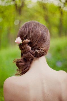 Side twisted pony Wedding Hair