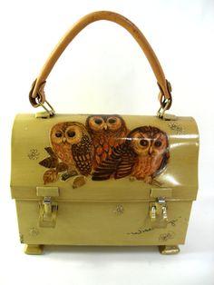 Retro Owl Thermos Lunchbox Purse