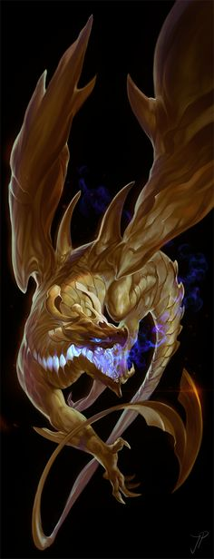 Golden Dragon by *cat-meff on deviantART