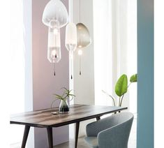 LIMPID PENDANT LIGHTS by VANTOT Light Colors, Colours, Pendant Lights, Hand Blown Glass, Glass Shades, Diffuser, Led, Lighting Products, Furniture