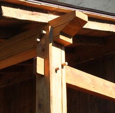 Timber Frame Porch Joinery