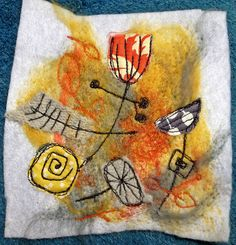 a bit of needle felting, with some machine embroidery thrown in by the art of moodling, via Flickr