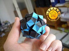 Polyhedron geometric origami tutorial