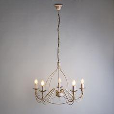 Candelabro ZERO BRANCO 5 taupe  #clasica #iluminacion #decoracion