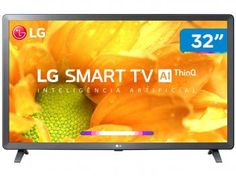 "Smart TV HD LED 32"" LG 32LM625BPSB Wi-Fi Bluetooth - HDR Inteligência Artificial 3 HDMI 2 USB - Magazine Vendasonlineweb Tv Led 40, Tv 32, Bluetooth, Wi Fi, Usb, Apple Tv, Tv Android, Smart Tv 4k, Operating System"